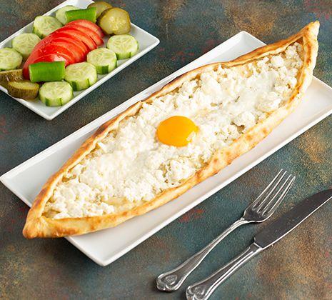 Açık Beyaz Peynirli Pide